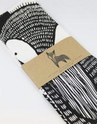 fox printed tea towel
