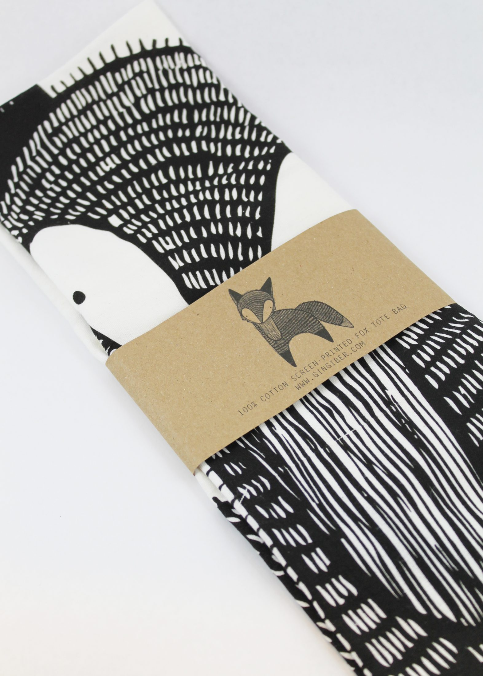 fox printed tea towel