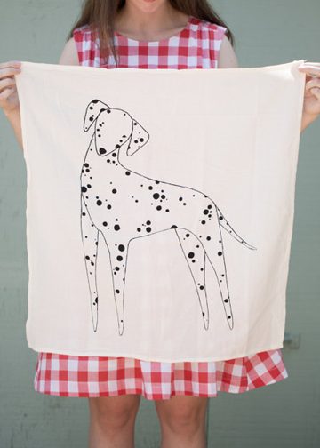 dalmation print towel