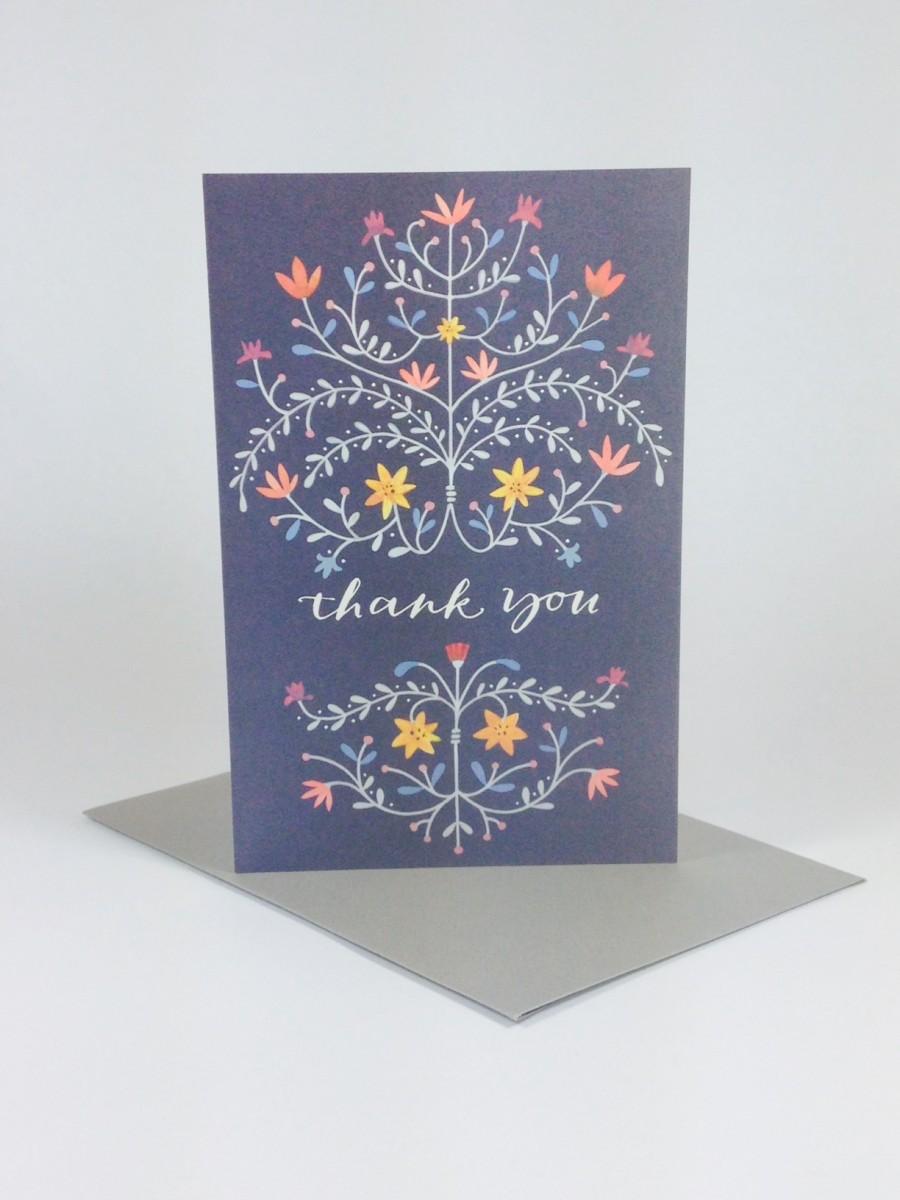 flemish style thank you card