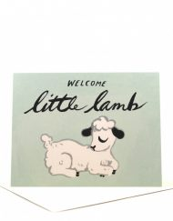 little lamb baby card