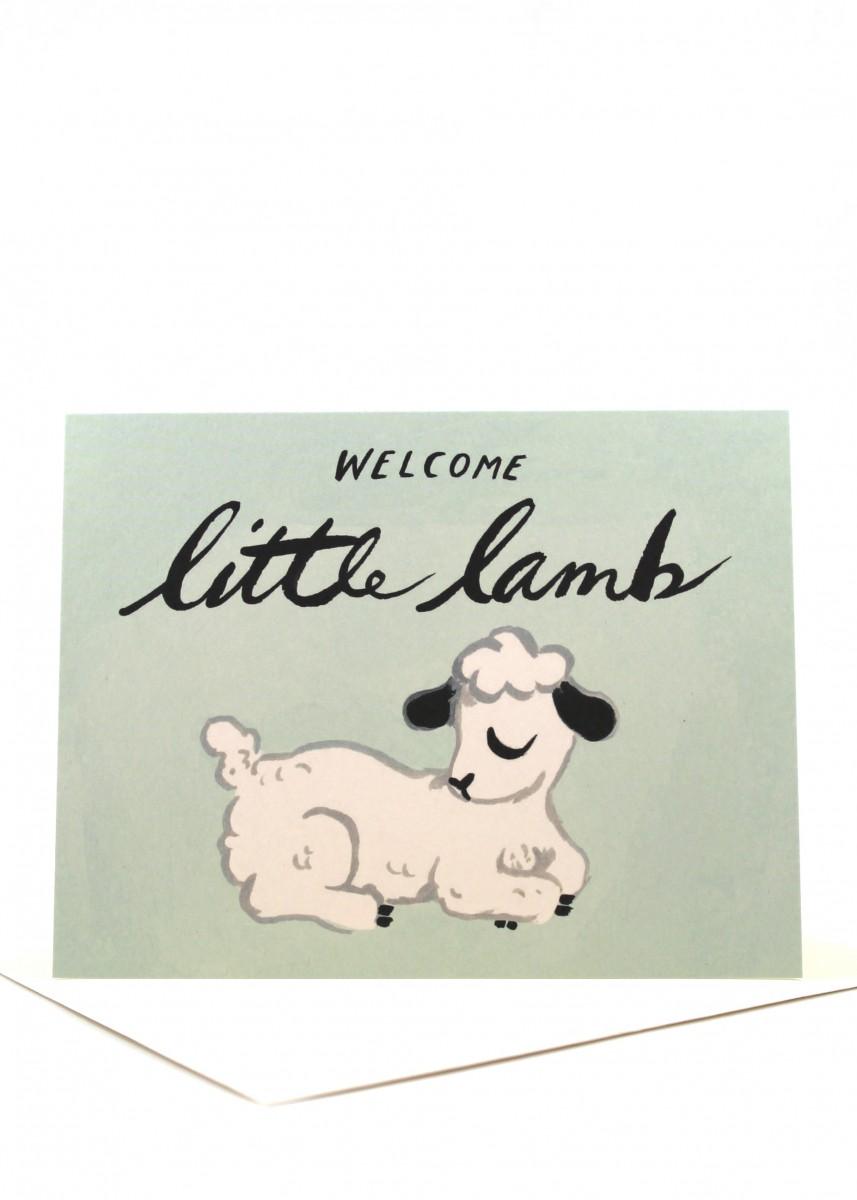 little lamb baby card