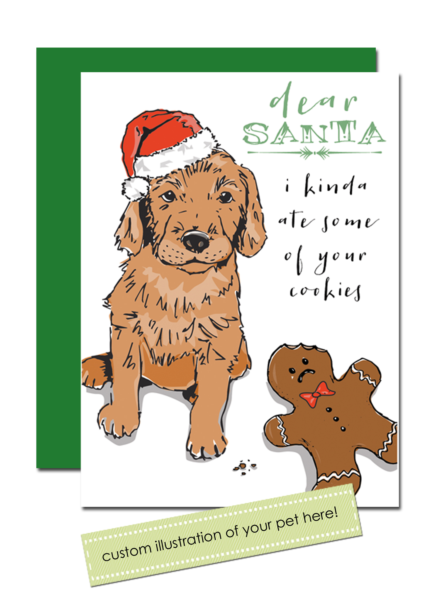 dear santa custom pet holiday cards - Pet Holiday Cards