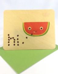 Hi bamboo card