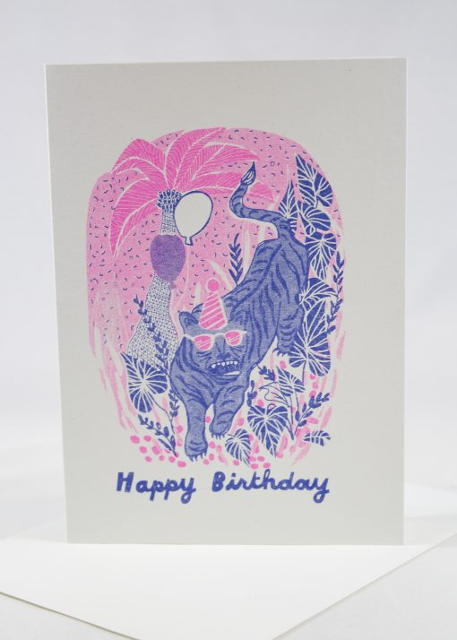 fun neon birthday card