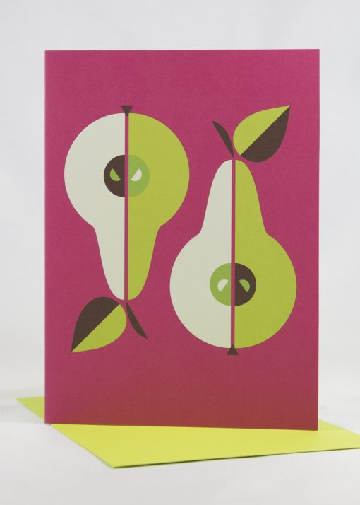 bright pears note card