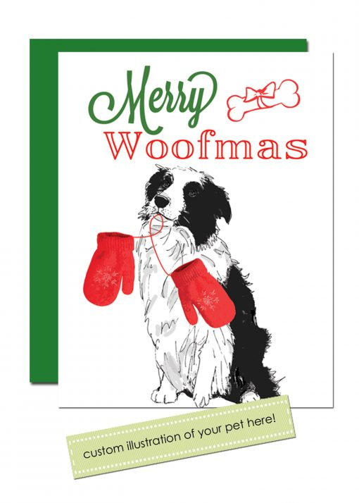 custom pet holiday card