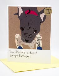You deserve a treat birthday card