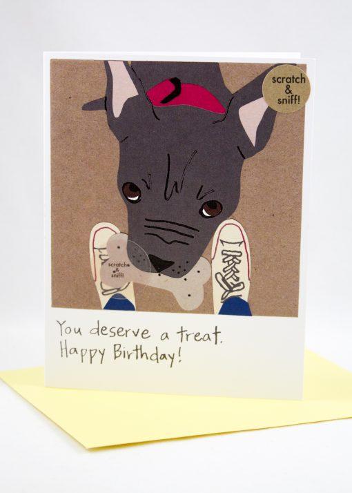 You deserve a treat birthday card
