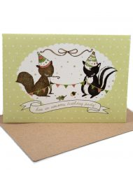 woodland birthday card
