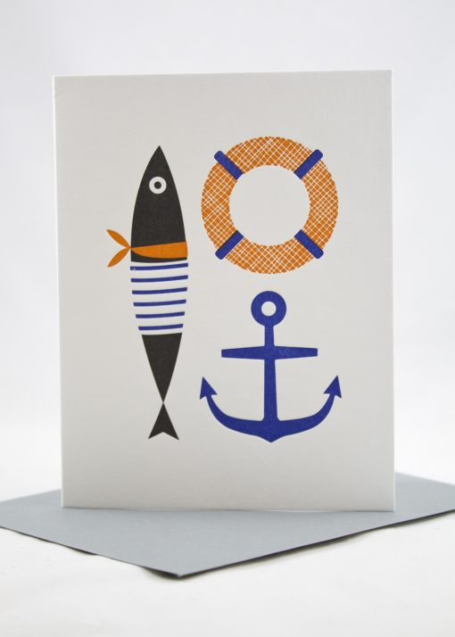 pretty nautical card