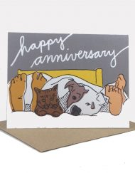 Pet lover anniversary card
