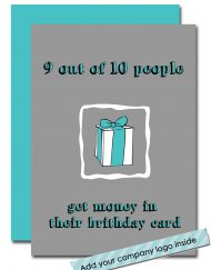 funny corporate birthday card