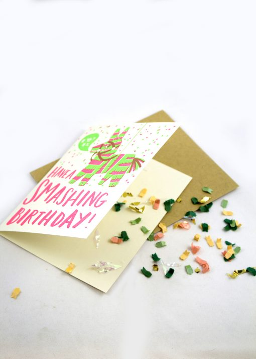 Birthday Card filled with confetti