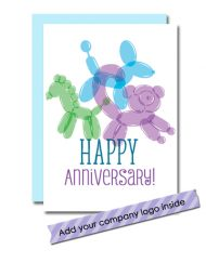 balloon animal anniversary card