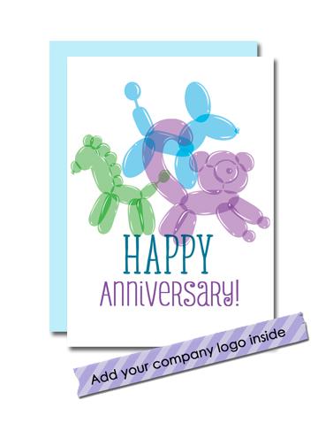 balloon animal anniversary card