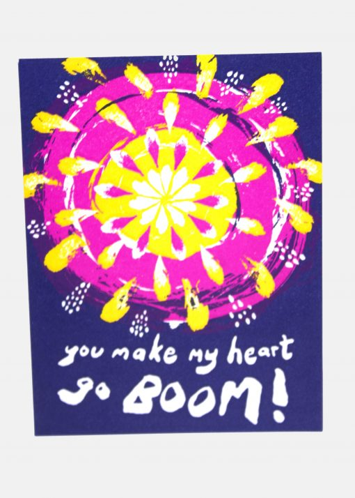 Fireworks Valentine's Day card