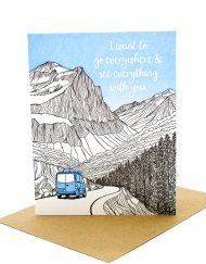 Travel Themed Valentine's Day Card