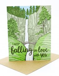 Nature themed Valentine's Day card