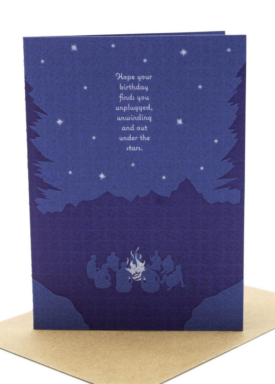 unplug  unwind handmade birthday card  sent well