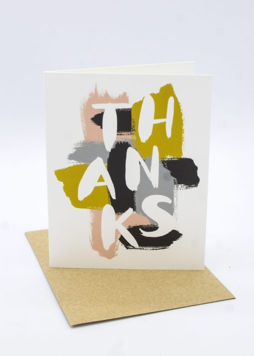 Modern art Thanks greeting card