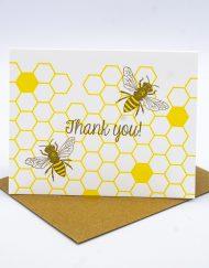 Bee Thankful custom greeting card