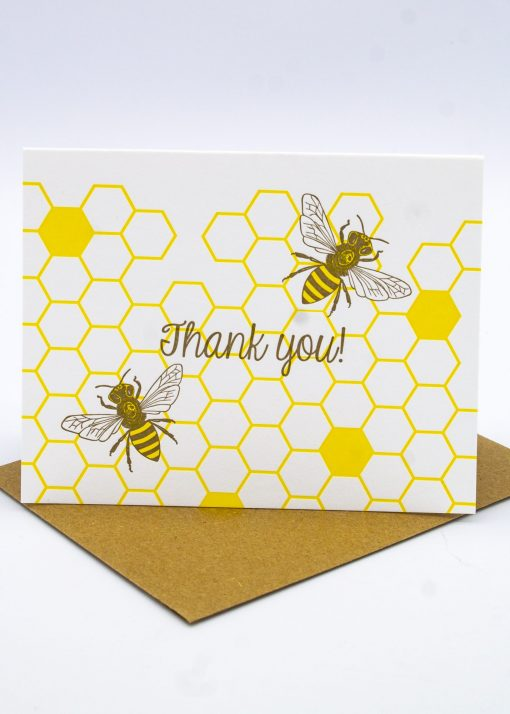 Bee Thankful custom greeting card