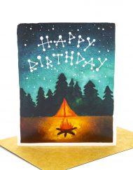 Campfire themed birthday card
