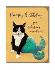 Happy Birthday Mermaid Cat