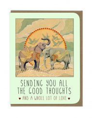 ENCOURAGMENT ELPEHANTS GREETING CARD